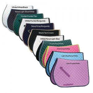 Riders International Quilted Saddle Pad with Piping
