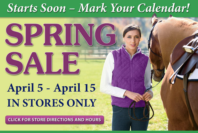 Dover Saddlery In-Store Spring Sale (April 5 - 15)