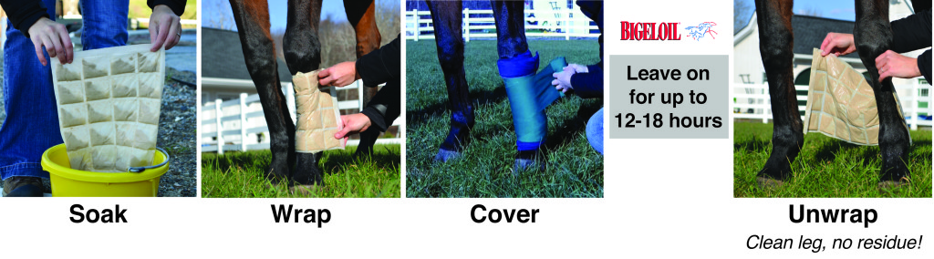 using bigeloil quilted poultice wraps