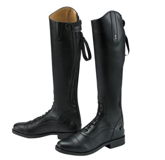 Pair of black Tredstep Donatello tall riding boots.