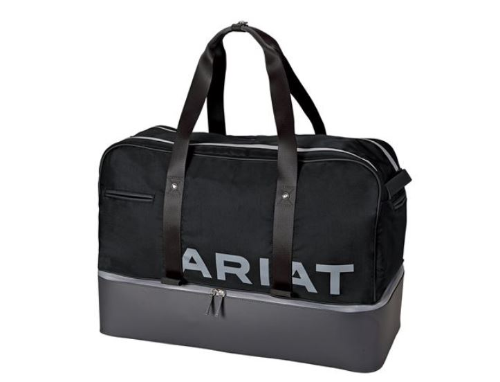 Father's Day gift Ariat Gear Bag in black and grey.