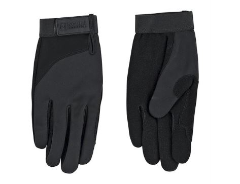 Pair of black Noble Outfitters Perfect Fit 3 Season Gloves laying on a white background.