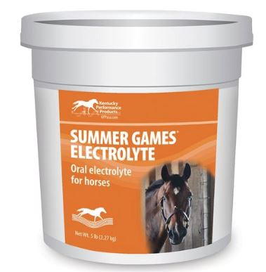 Summer Games Electrolytes that help encourage horses to drink water and recover quicker after exercise.