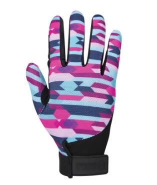 Colorful Noble Equestrian Perfect Fit Glove that features a mesh back to help keep your hands cool while riding or working in the barn this summer.