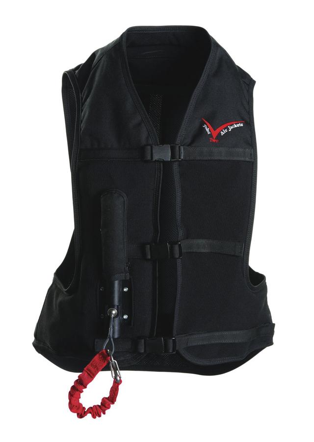 Black inflatable eventing vest