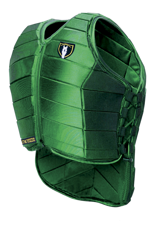 Green eventing body protector vest